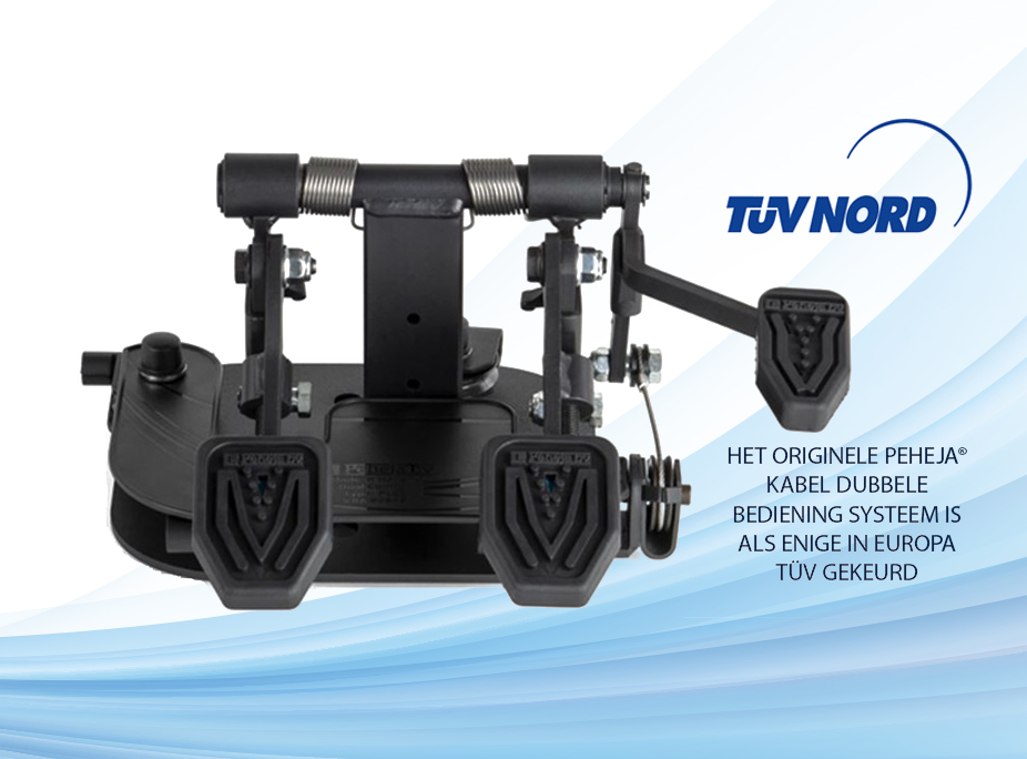 TUV NORD - Het originele peheja kabel dubbele bedieing systeem is als enige in europa TUV gekeurd